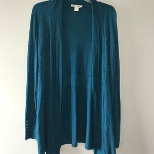 WHBM Open Front Cardigan Sweater Size XL 16